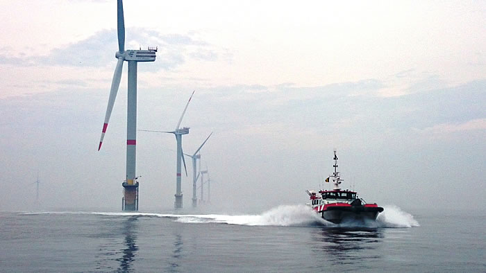 Three MPI vessels will shortly arrived at the Sheringham Shoal Offshore Wind Farm