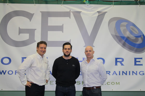 Scira's Colin Galer flanked by GEV Offshore's Managing Director David Fletcher on the left and GEV Offshore's Operations Director Brandon Hannon on the right