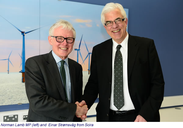 Norman Lamb MP (left) and  Einar Strømsvâg from Scira