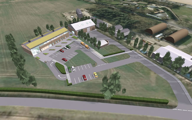 Artists impression of new operations and maintenance base