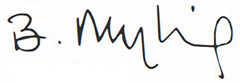 Beate Myking signature