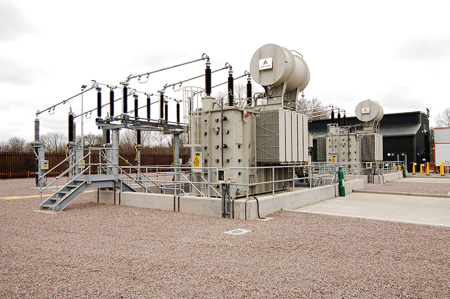Onshore substation at Salle