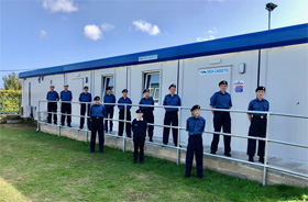 Wells Sea Cadets outside their 'new home'