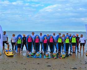 Members of Mundesley SLSC with their new equipment [Image courtesy of Mundesley SLSC]